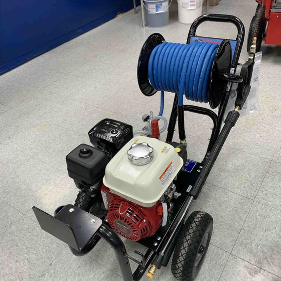 Custom Built Mobile Washer with Foamer and 100' Hose Reel